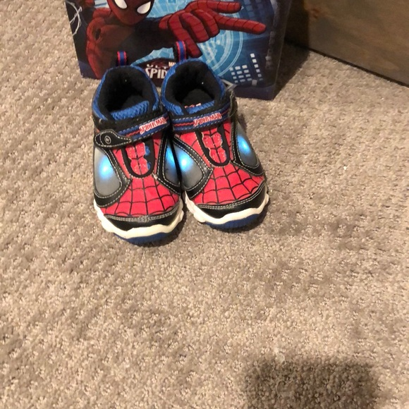 Stride Rite Light Up Spiderman Shoes